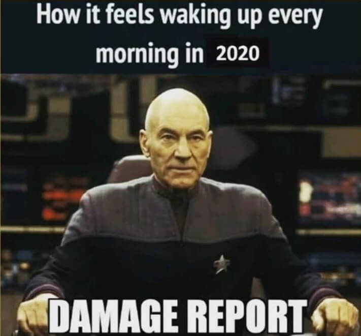 captain pritchard asks for a damage report on year 2020
