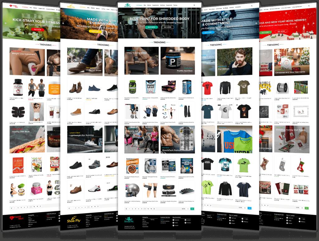 website design for online ecommerce store templates