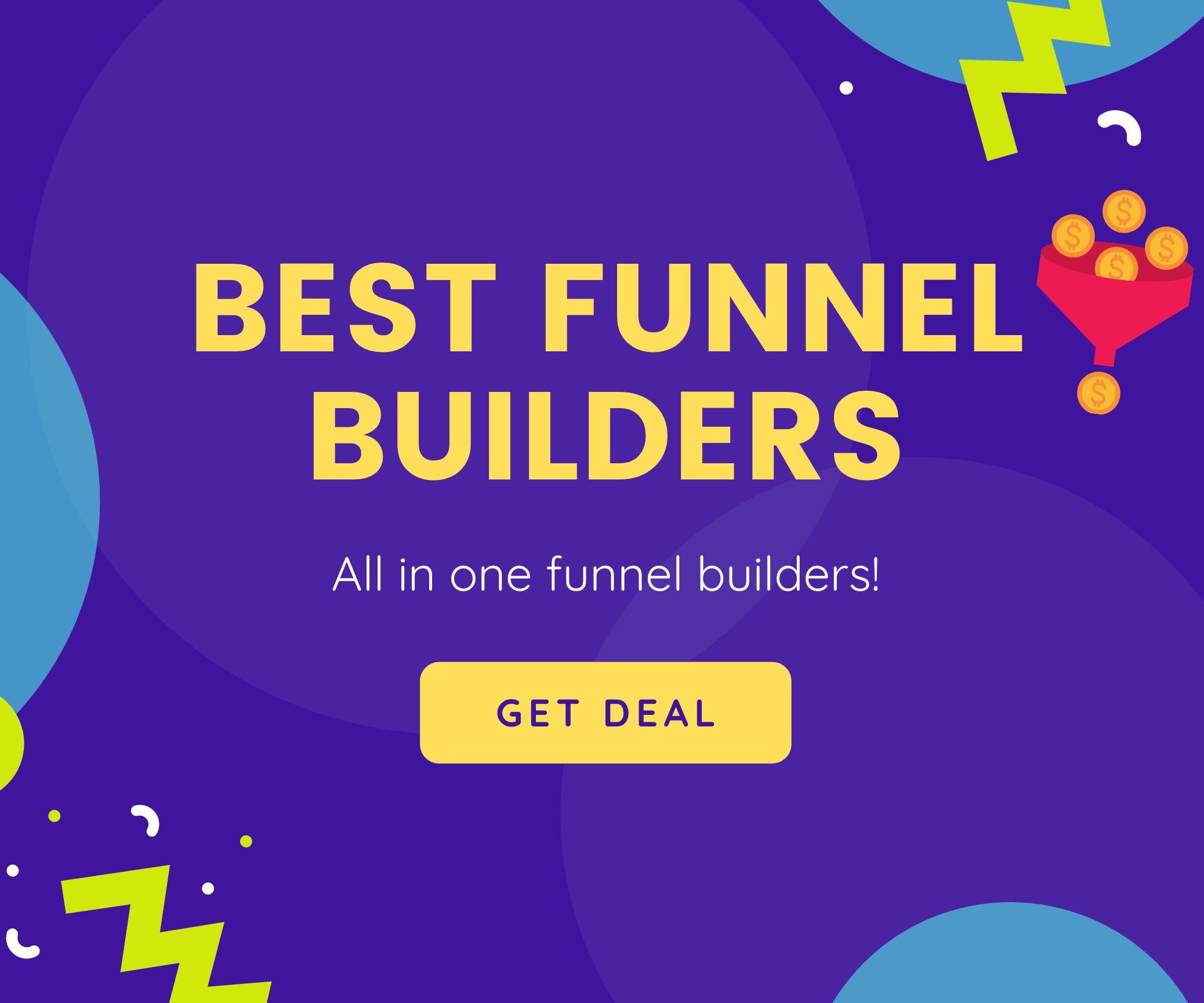 Banner Best Funnel Builder deals