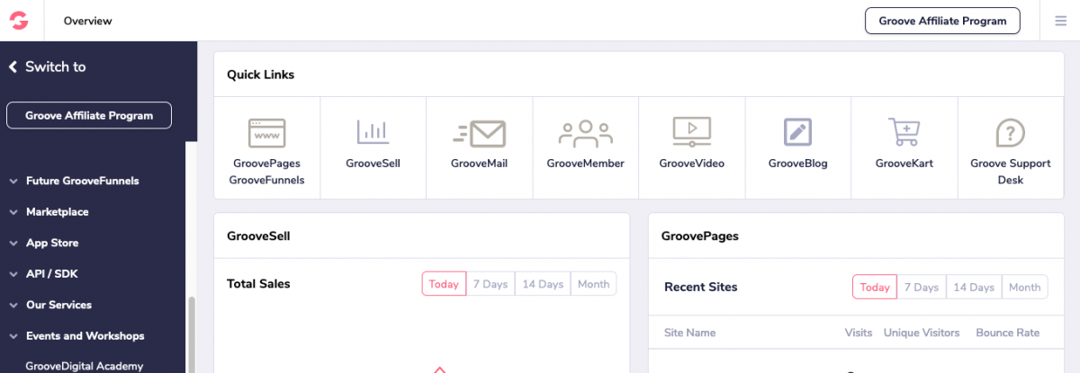 earn commission promoting GroovePages